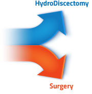 Hydrodiscectomy vs traditional open surgery